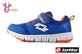LOTTO 義大利 樂得 中大童 運動鞋 機能鞋 透氣網布 慢跑鞋 L8699#藍橘◆OSOME奧森鞋業
