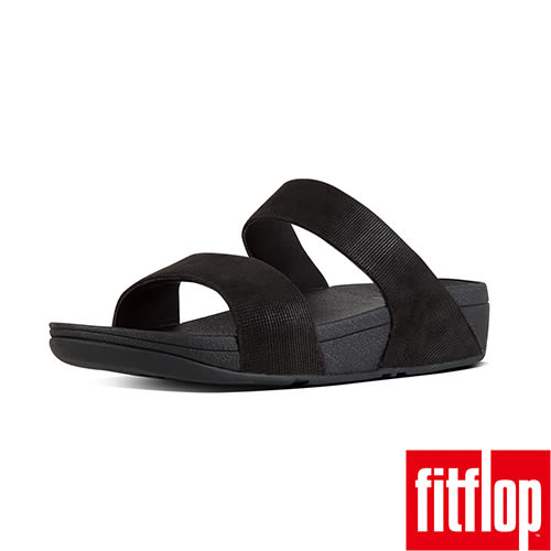 FitFlop TM-SHIMMY TM OPUL SLIDE-黑色