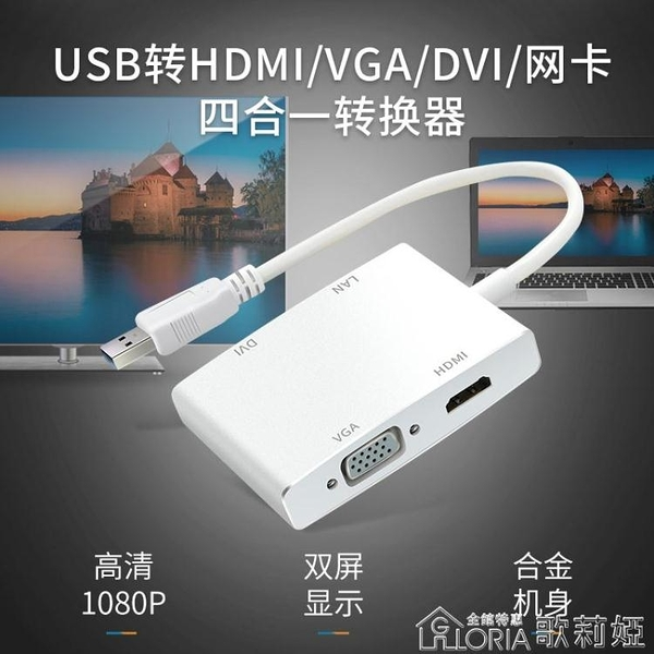 HOY usb3.0擴展塢筆記本電腦usb擴展器帶網口hdmi分線器vga高清接口dvi 【快速出貨】