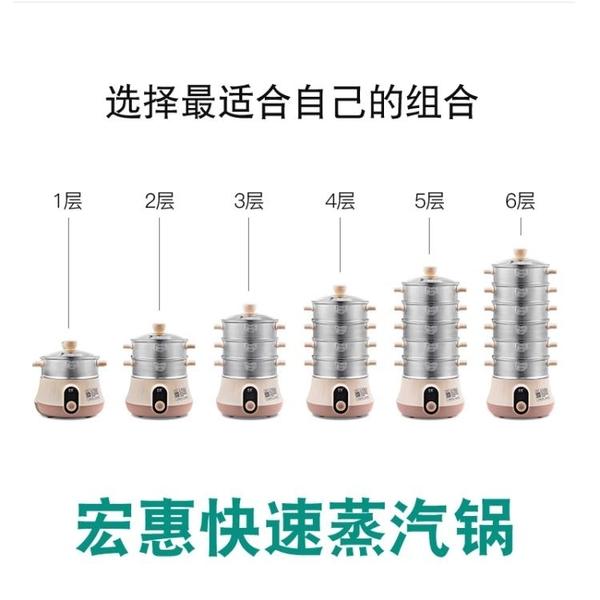 現貨 出口美國台灣日本110V宏惠快速蒸汽鍋電蒸鍋多功能家用小容量蒸鍋 DF 維多