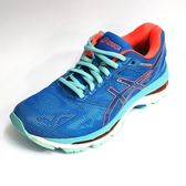 ASICS 亞瑟士 女 GEL-NIMBUS 19 慢跑鞋 運動鞋 高緩衝避震 亞瑟膠 T750N-4306 藍 橘[陽光樂活]