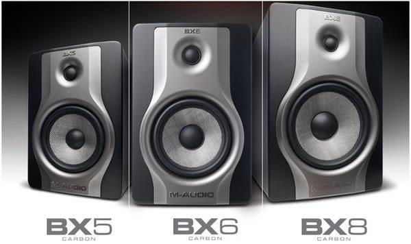 【金聲樂器廣場】全新 M-audio BX8 Carbon 8吋 碳纖維 主動式 監聽喇叭