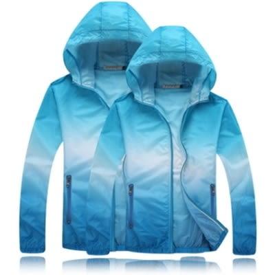 防曬外套(單件)-防風防水遮陽透氣男女連帽夾克4色73ei13【巴黎精品】