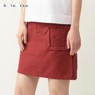 a la sha 立體動物口袋不對稱短裙