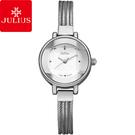 JULIUS 聚利時 奢華時裝立體鏡面水蛇手鍊腕錶-銀色/22mm 【JA-559A】