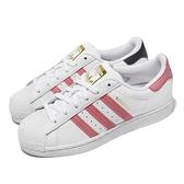 adidas 休閒鞋 Superstar W 白 粉紅 金標 小白鞋 三葉草 女鞋 貝殼頭 【ACS】 FX5964
