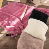 IN'SHOP暖冬毛絨泡泡袖小立領針織毛衣-共4色【KT221133】