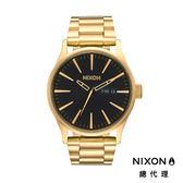 NIXON手錶 原廠總代理A356-510 THE SENTRY SS 金黑色 潮流時尚鋼錶帶 男女 運動 生日情人節禮物