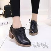 馬丁靴女短靴款春季女鞋高跟靴子百搭韓版學生粗跟小皮鞋潮 衣櫥の秘密