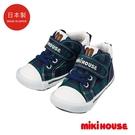 MIKI HOUSE 日本製 格紋帆布鞋...