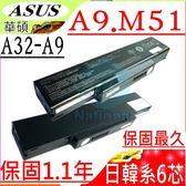 ASUS 電池-華碩 電池- A9T,A9,A9000,A9500,A32-A9,A32-Z98,CBP1LL,CBPIL-72,90-NFY6B1000Z