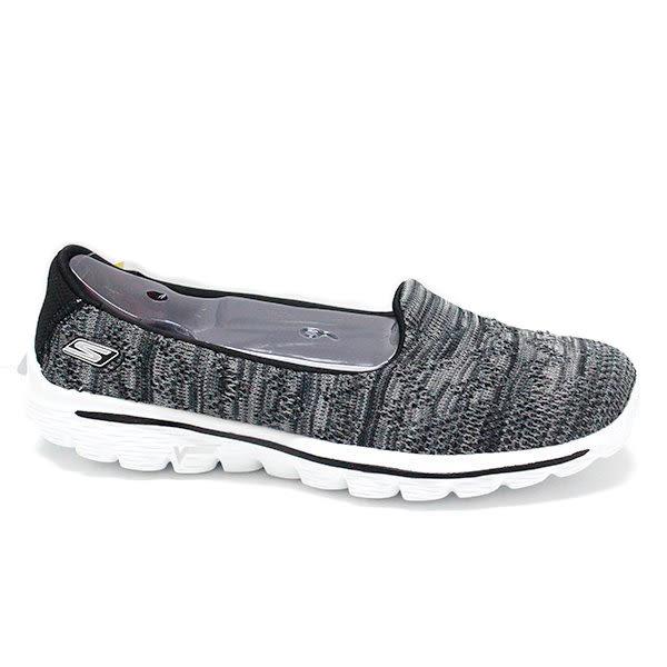 Skechers GO walk 3 女 白 灰 休閒運動鞋 輕量 透氣 健走鞋 13979BKW