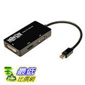 美國直購Tripp Lite Keyspan Mini Displayport to VGA DVI HDMI ,All in One Cable Adapte