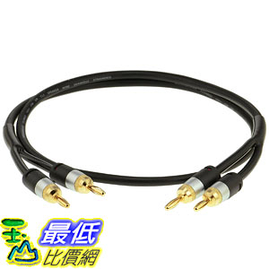 [107美國直購] 喇叭線 Mediabridge 16AWG ULTRA Series Speaker Cable w/ Gold Plated Banana Tips (6 FT)