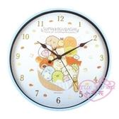 小花花日本精品 角落生物 滿版圖 立體數字 時鐘 圓鐘 掛鐘 壁掛鐘 居家必備 藍/黃兩款~3
