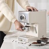 咖啡機 ACA北美電器ES12A咖啡機家用小型意式半全自動商用蒸汽奶泡機一體 風馳