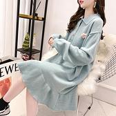 針織洋裝荷葉邊寬鬆洋裝女秋裝新款魚尾裙針織學生長款過膝毛衣裙潮 全館免運