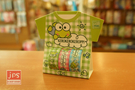 KeroKeroKeroppi 大眼蛙 裝飾紙膠帶 內含3捲 方格綠 871440