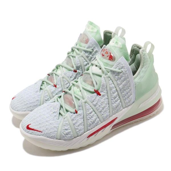 Nike 籃球鞋 LeBron XVIII EP Empire Jade 綠 紅 男鞋 18代 玉珮 LBJ LBJ 氣墊 運動鞋 【ACS】 DB7644-002