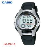 CASIO 多功能數位膠帶電子錶 數字防水兒童錶 黑 LW-200-1A 學生錶 兒童錶 公司貨保固1年 | 名人鐘錶