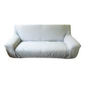 HOLA 素色彈性二人沙發套 湖藍