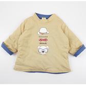 【愛的世界】純棉小熊兄弟兩面穿鋪棉長袖上衣/1歲-台灣製- ★秋冬上著