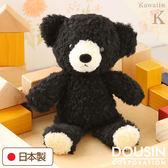 Hamee 日本製 手工原創商品 細緻絨毛娃娃 軟綿綿系列 療癒玩偶 禮物 泰迪熊 (黑色黑熊/M) 640-106032