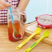 ♚MY COLOR♚創意二合一漏勺叉套組 廚房 DIY 水果叉 食物 水果 輕食 料理 醃製 湯匙 實用  【K73】