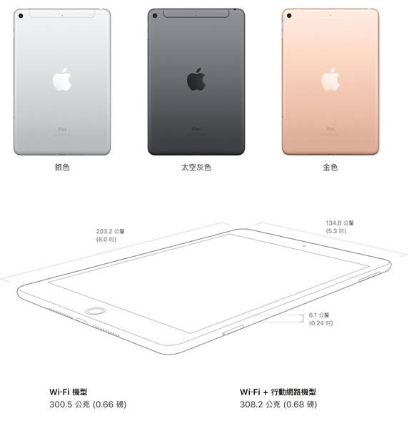 2019 APPLE iPad mini 64G WiFi 平板 7.9吋 第五代,送 玻璃保護貼