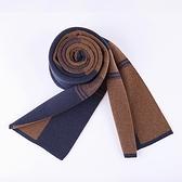 針織圍巾-格子加厚溫暖羊毛男披肩3色73wi2【時尚巴黎】