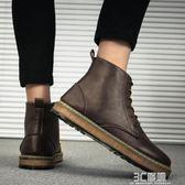 馬丁靴 馬丁靴男夏季韓版潮流中幫靴子原宿高筒皮鞋英倫男鞋ulzzang板鞋 3C優購