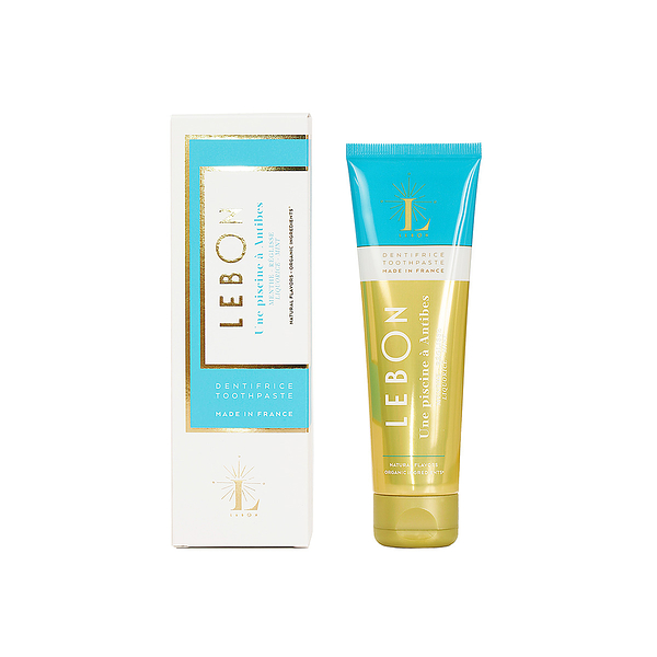 法國 Lebon Mint Toothpaste Liquorice 75ml 藍色 昂蒂布泳池 甘草 天然薄荷牙膏