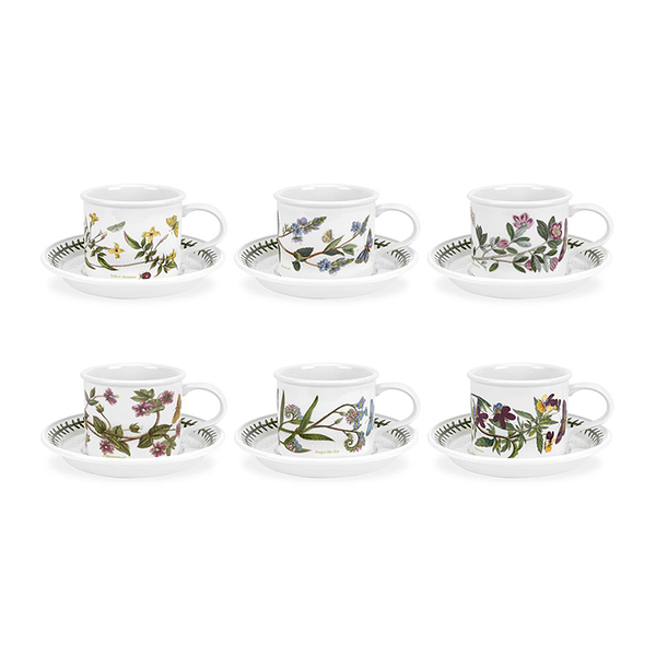 英國Botanic Garden植物園系列 - 260ML直筒杯盤六入組