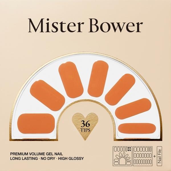 Mister Bower 頂級光療美甲貼 甜橙 36片