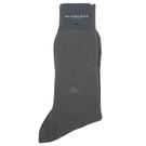 BURBERRY刺繡戰馬LOGO紳士襪(灰)088904-25