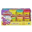 【Play-Doh 培樂多】HA5417 創意 DIY 系列 - 閃亮黏土六色黏土組