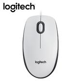 【logitech 羅技】M100r 有線光學滑鼠-白色