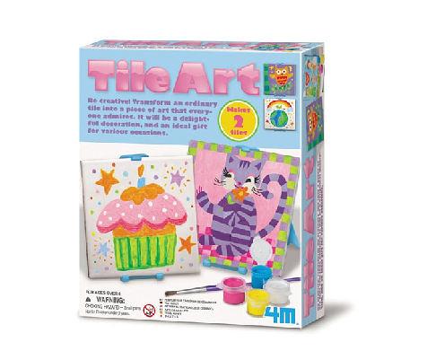 【4M】00-04591 美勞創作DIY 彩繪方塊磚 Tile Art