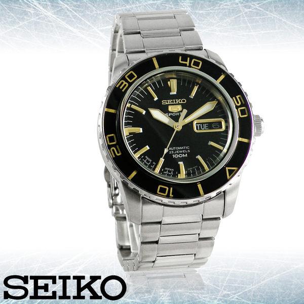 SEIKO 精工手錶專賣店 國隆 SNZH57J1 新水鬼五號_時尚自動機械鋼錶 夜光點及夜光指針 旋入式錶背
