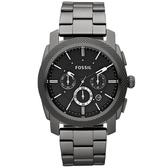 FOSSIL 星際時空三環運動腕錶/手錶-鐵灰/45mm FS4662
