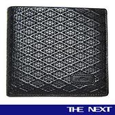 背包族【THE NEXT】菱形壓紋進口牛皮 具備多功能性皮夾/短夾