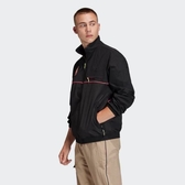 ISNEAKERS adidas Originals 愛迪達 FR0594 黑色 黑粉 拼接 復古 風衣外套 立領