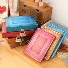 創意歐式復古帶鎖日記本盒裝密碼鎖筆記本學生交換禮物本子記事本【完美生活館】