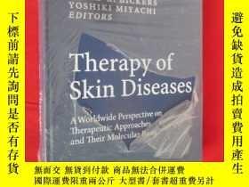 二手書博民逛書店Therapy罕見of Skin Diseases: A Wor