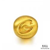 點睛品 Charme 字母系列黃金串珠(字母G)