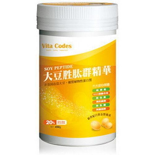 大豆胜肽群精華 Vita codes 450g/罐 (陳月卿推薦) 6瓶組