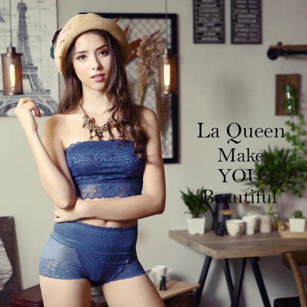 LaQueen 窈窕美體蠶絲機能骨盆褲(7333 寶藍)