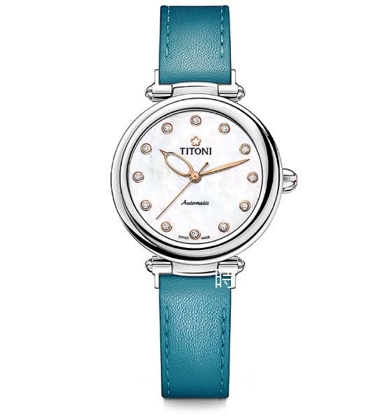 TITONI 梅花麥 瑞士 時尚機械錶 (23978 S-STT-622) 快拆/土耳其藍