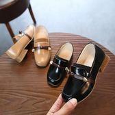 【618好康又一發】春季皮鞋女童高跟公主鞋豆豆鞋