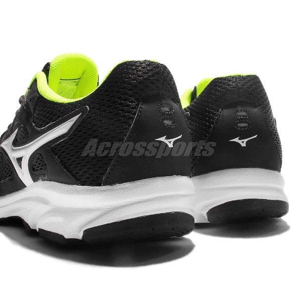 Mizuno 慢跑鞋 Spark 2 黑 白 螢光黃內裡 輕量透氣 男鞋 【PUMP306】 K1GA170301